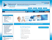 Tablet Preview of oakwoodchemicals.net